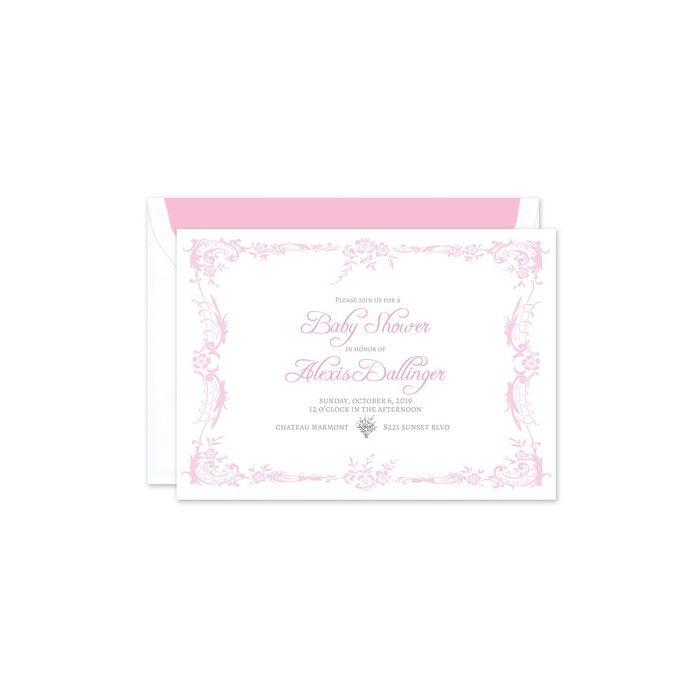 Pink Garden Invitation