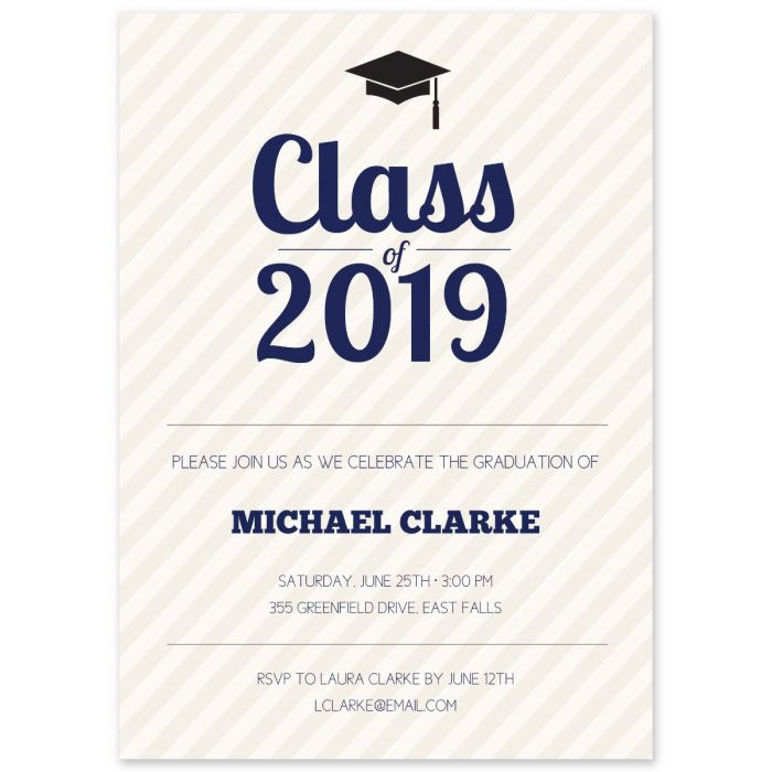 Grad Cap Invitation