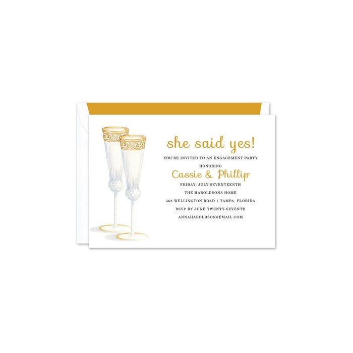 Champagne Flutes Invitation