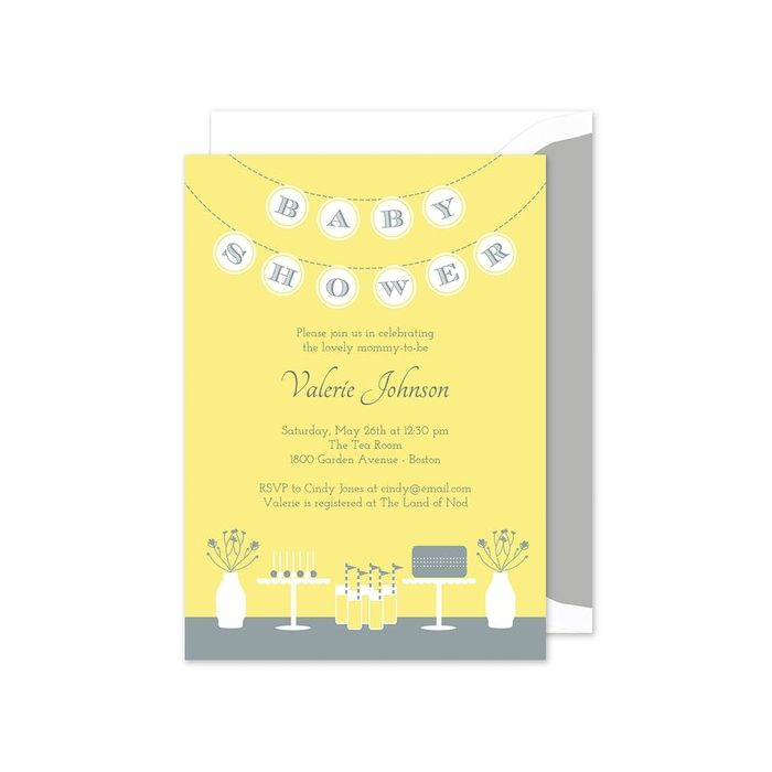 Yellow Banner Invitation