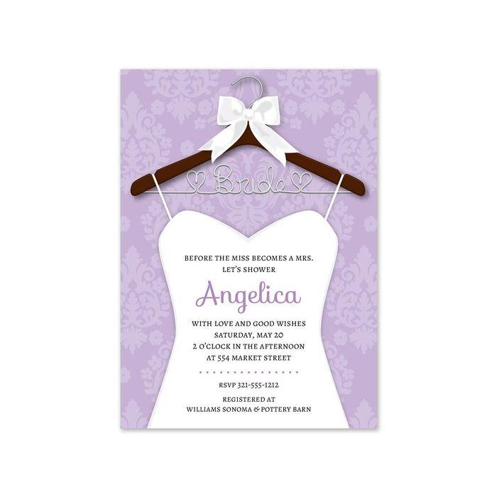 Bridal Hanger Invitation