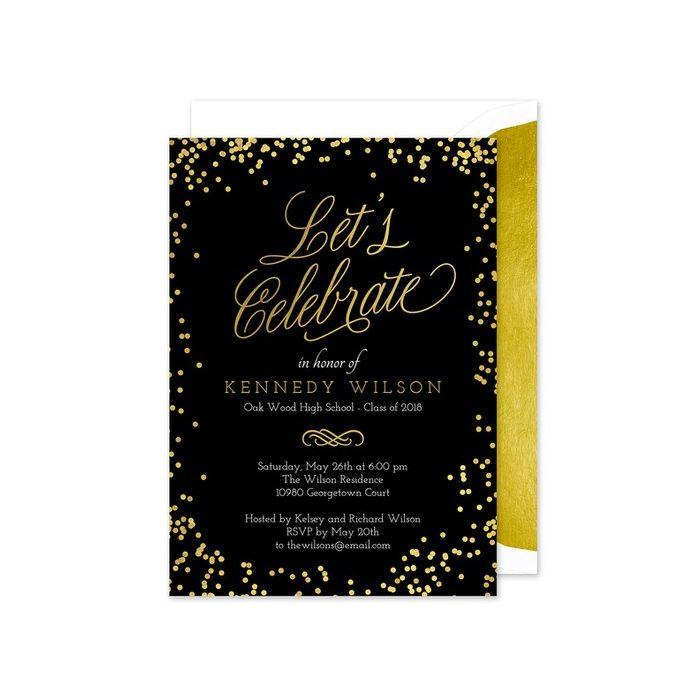 Shiny Confetti Invitation