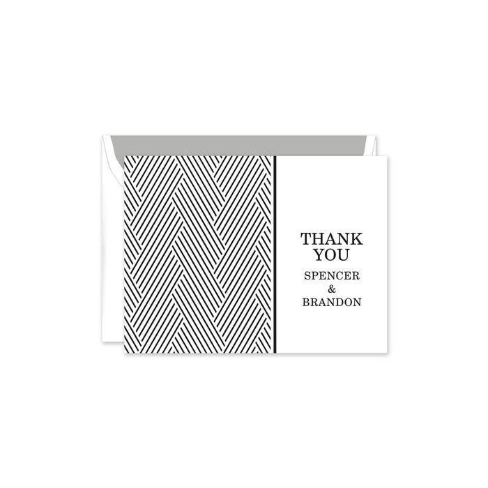 Bold Black Note Card