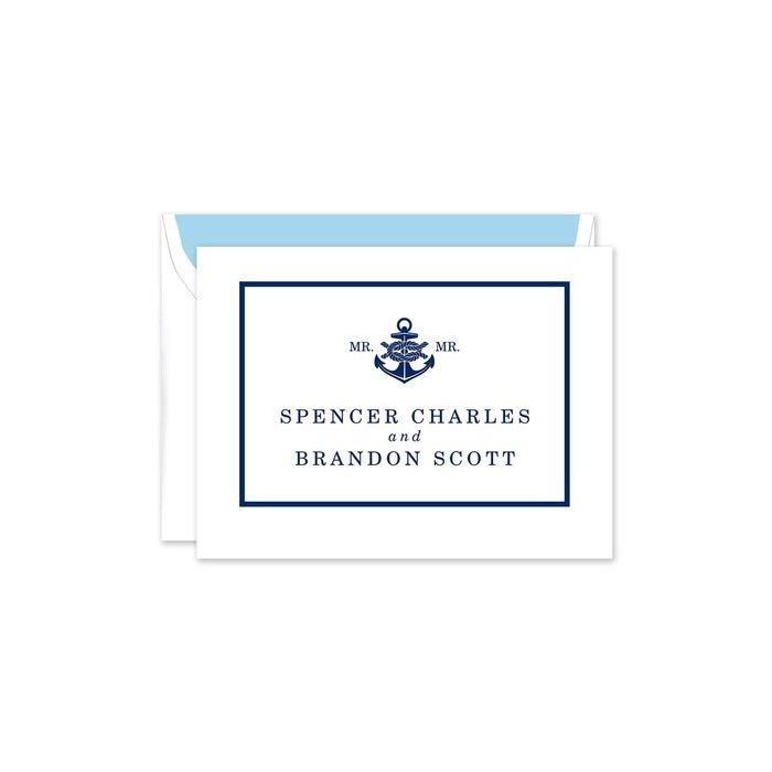 Nautical Knot Note Card
