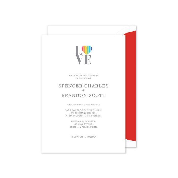 Rainbow Love Invitation