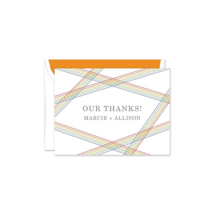 Rainbow Stripes Note Card
