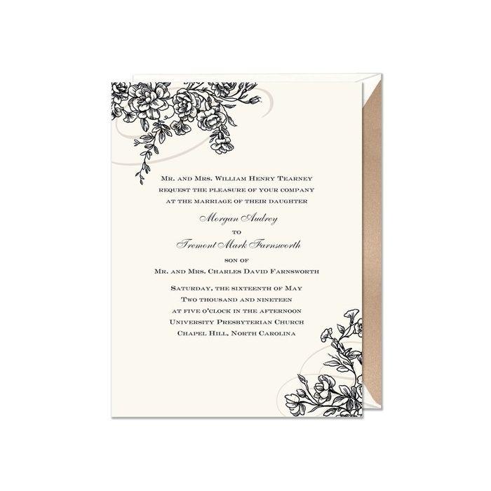 Floral Flourish Invitation
