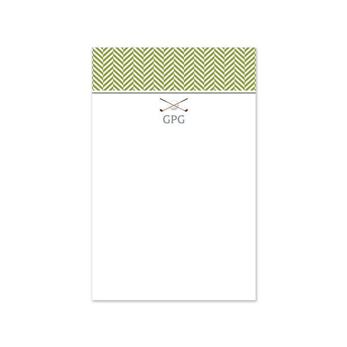 Golf Club Note Pad