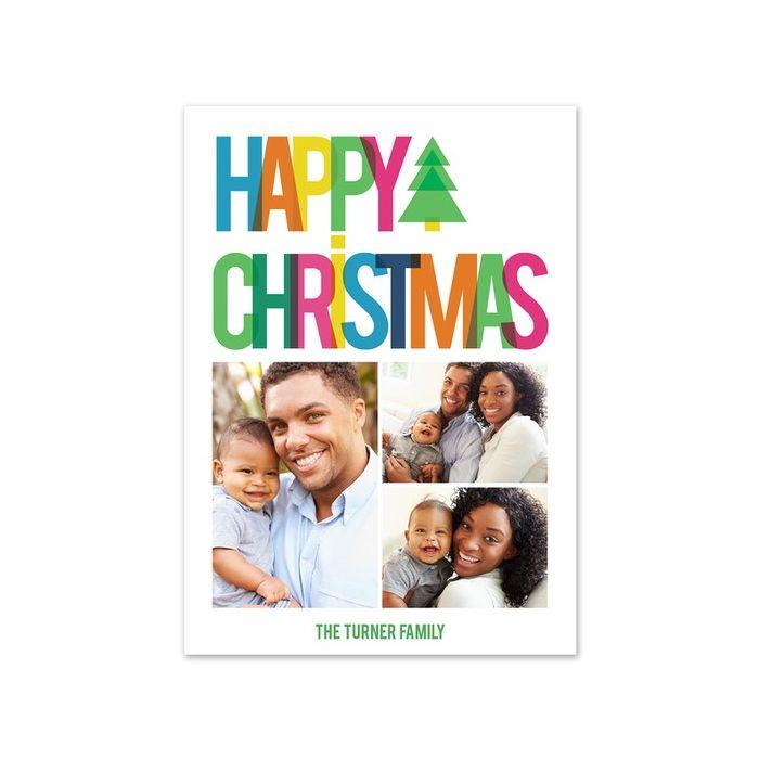 Rainbow Christmas Photo Card