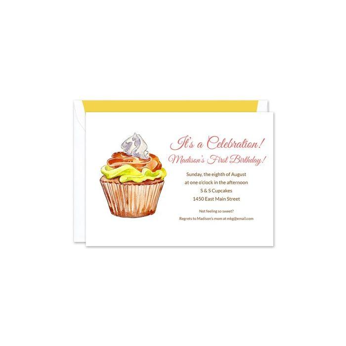 Fall Cupcake Invitation