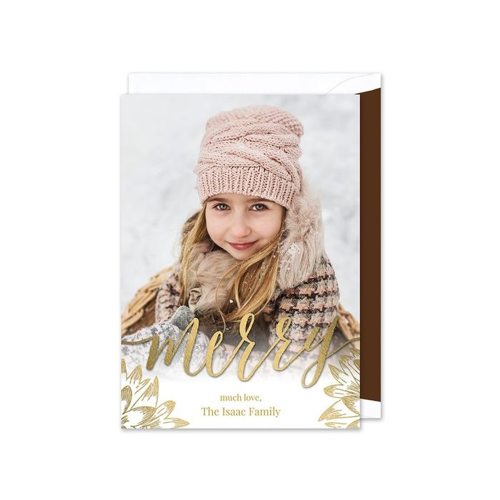 Glowing Merry Photo Card