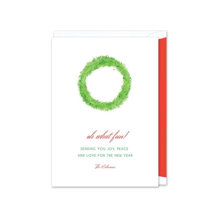 Festive Wreath Greeting Card