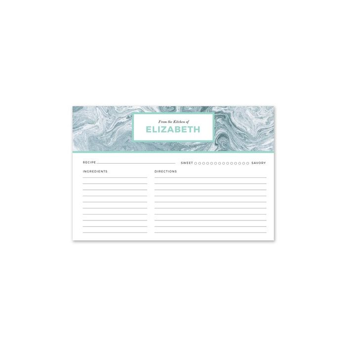 Blue Marble Recipe Card