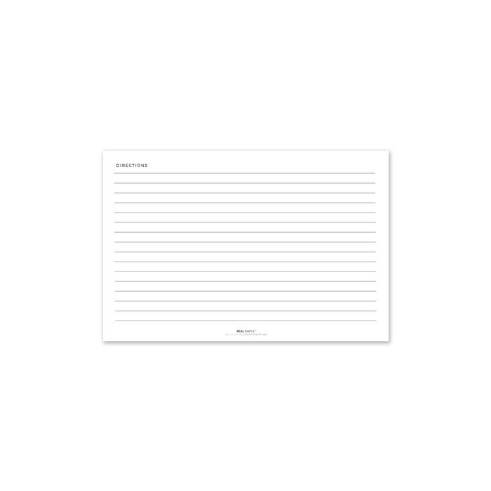 Teal & Orange Recipe Card