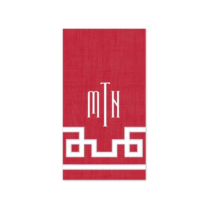 Rive Red Guest Napkin