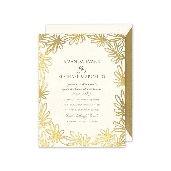 Golden Whimsy Invitation