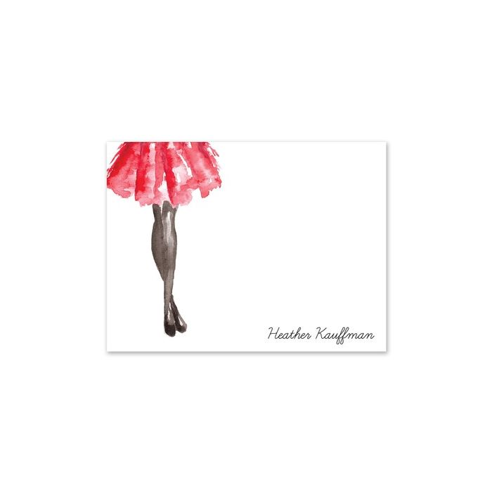 Watercolor Skirt Note Card