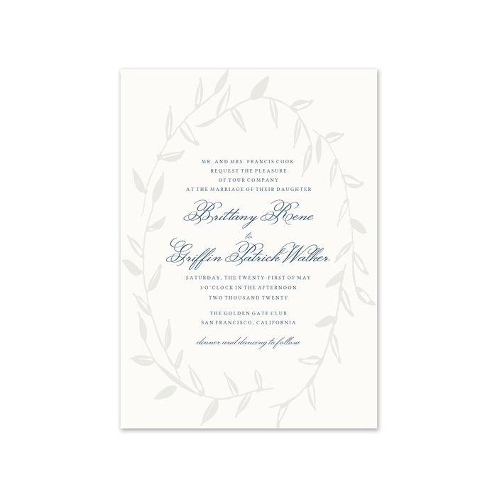 Laurel Wreath Invitation
