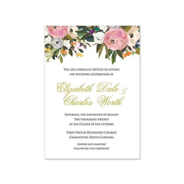 Pink Bloom Invitation