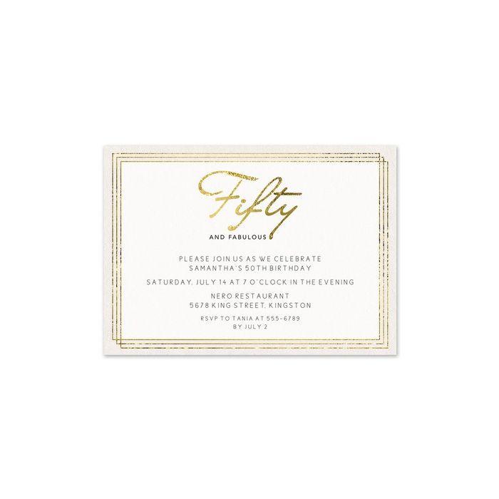 50 & Fabulous Invitation