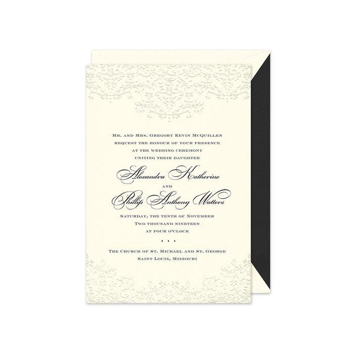 Floral Scroll Invitation