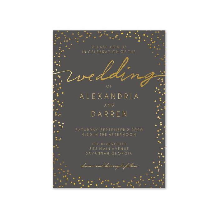 Gorgeous Confetti Invitation