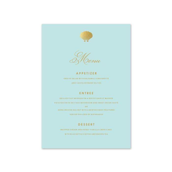 Stylish Shell Menu Card
