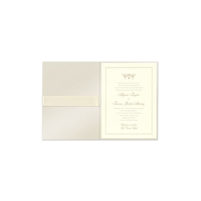 Ribbon Foldover Invitation