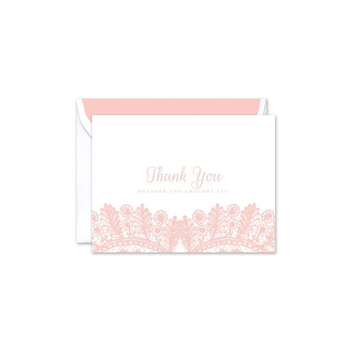 Rose Lace Note Card
