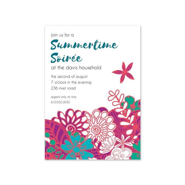 Summer Florals Invitation
