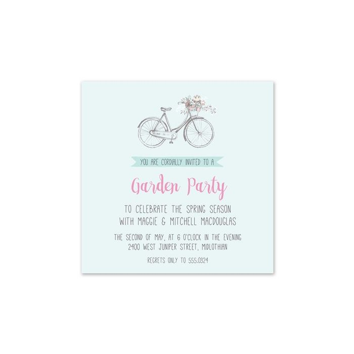 Floral Bicycle Invitation