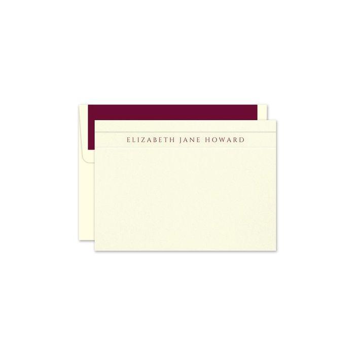 Ivory Camden Flat Card