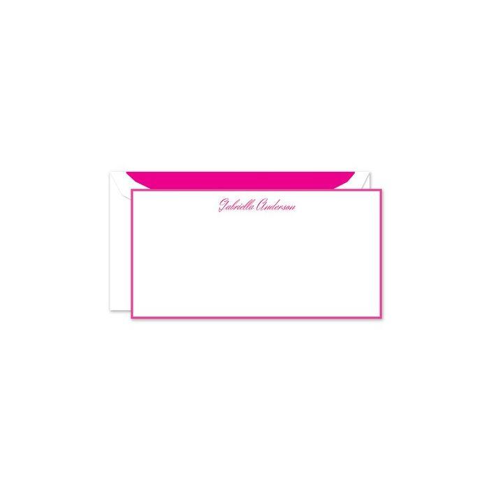 Hot Pink Flat Card