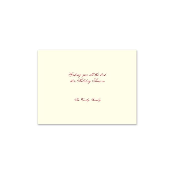 Classic Holiday Wreath Greeting Card