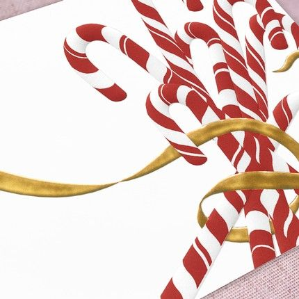 Candy Cane Greeting Card