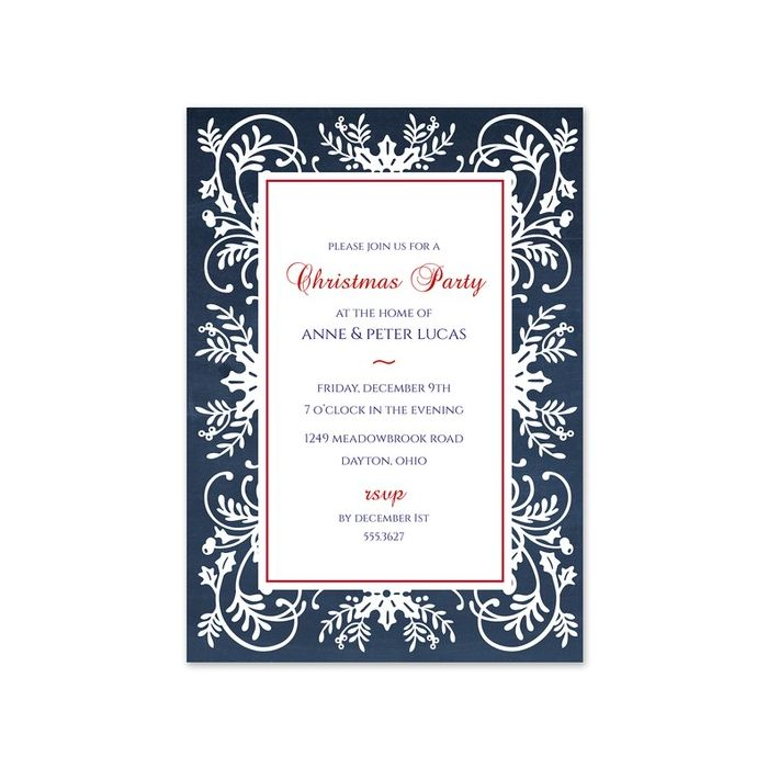 Navy Soiree Invitation