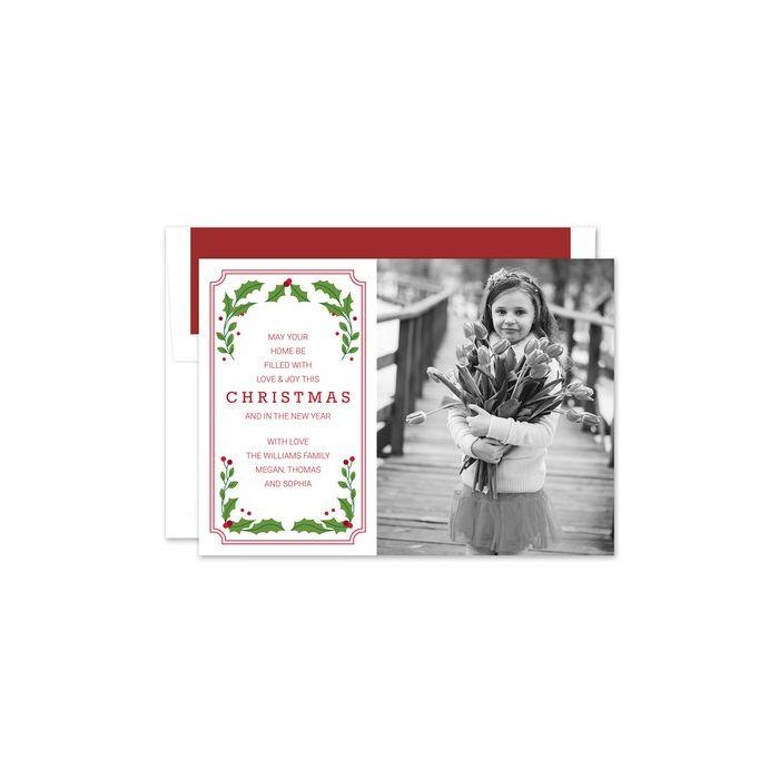 Vintage Holly Photo Card