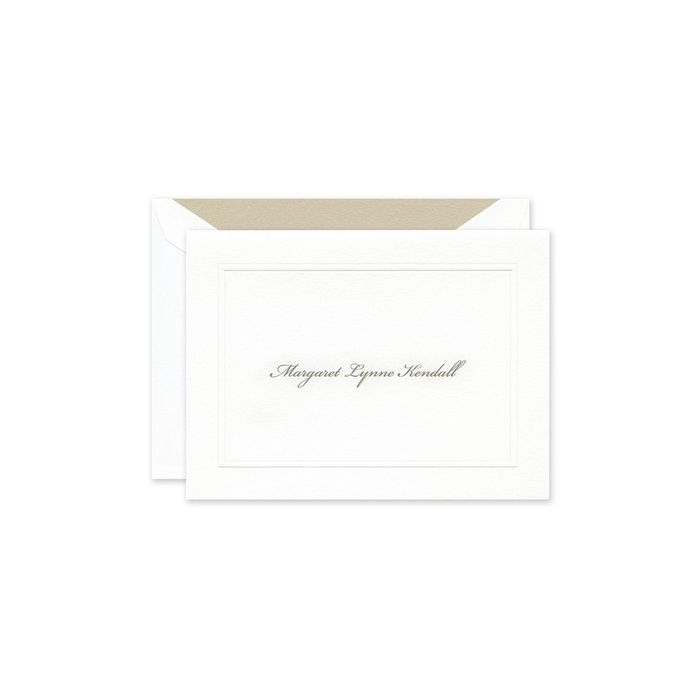White Rounded Bar Note Card