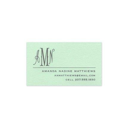 Seafoam Business Card