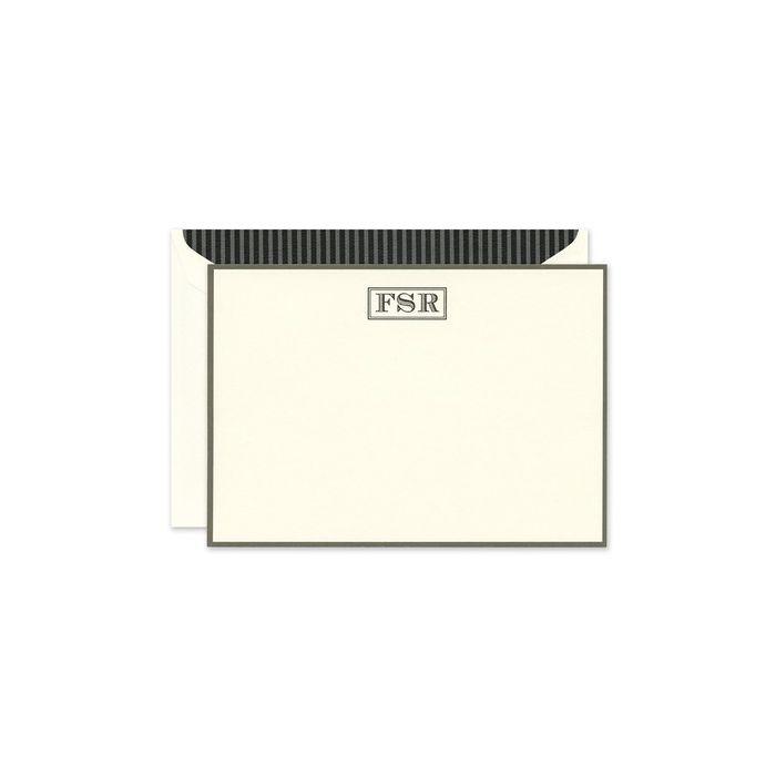 Graphite Border Note Card