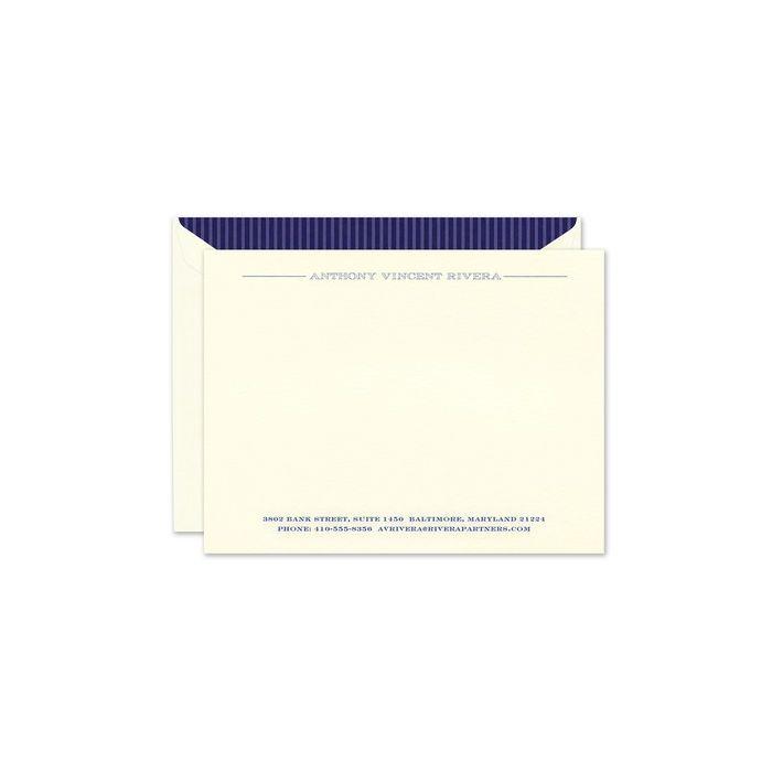 Ecru Large Flat Card