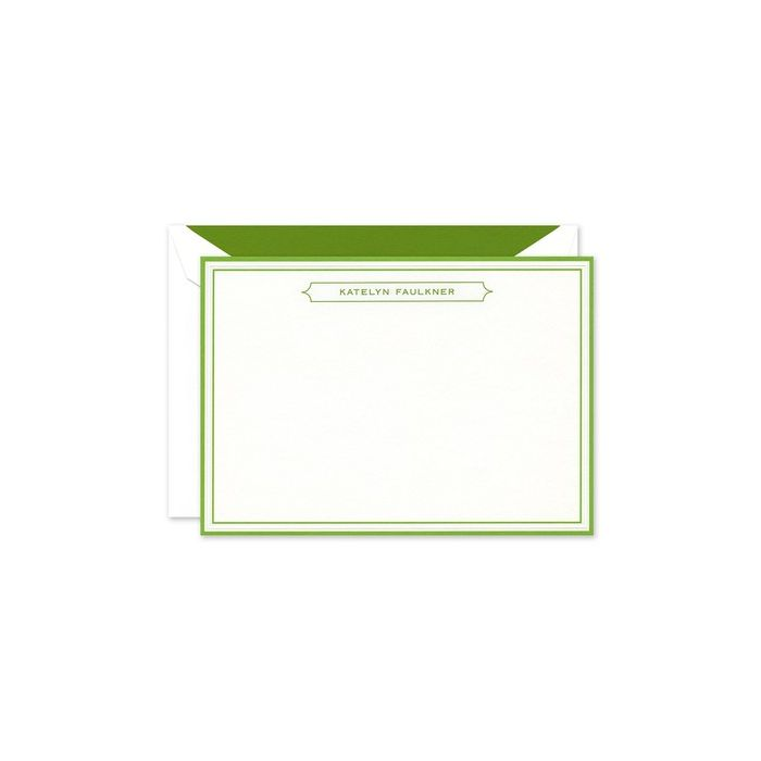 Vivid Green Border Card