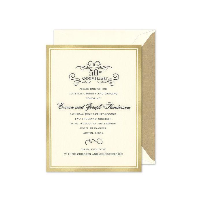 Gold Foil Border Invitation