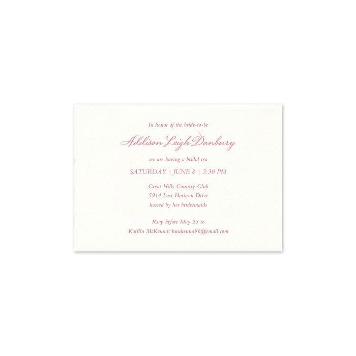 White Folded Invitation