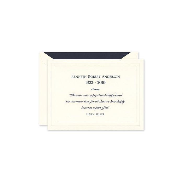 Ecru Bar Panel Note Card