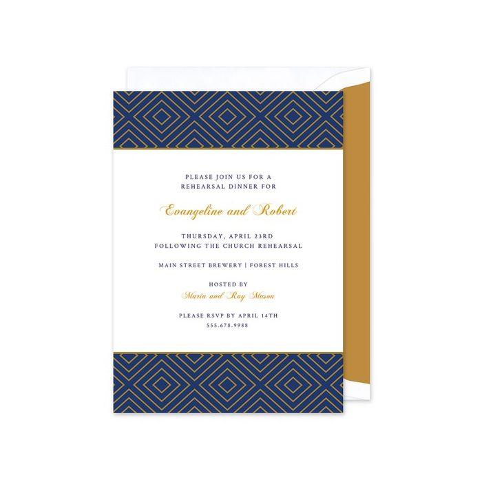 Navy and Gold Invitation