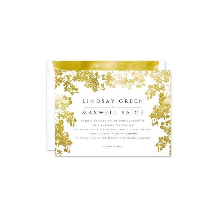 Gilded Vines Invitation