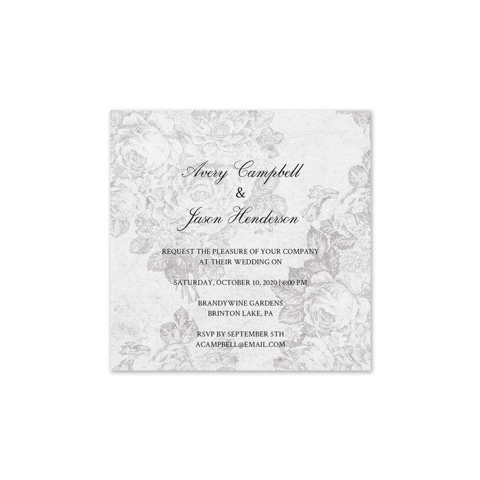 Victorian Grey Invitation