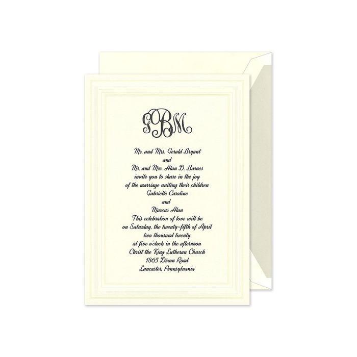 Intricate Embossed Panel Invitation
