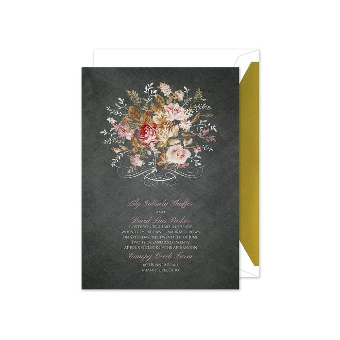 Wooden Roses Invitation